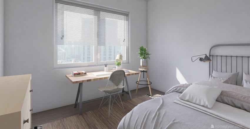 Small Single Apart Interior Design Render