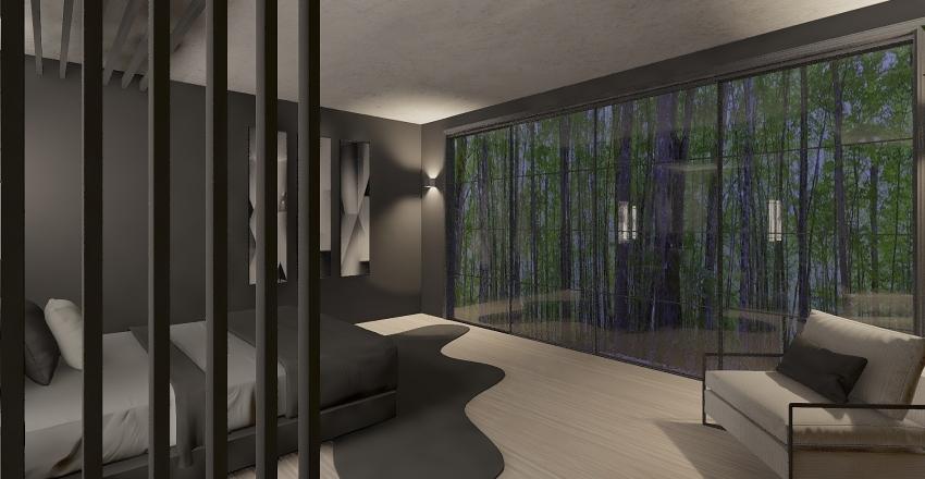 Casa en el bosque Interior Design Render