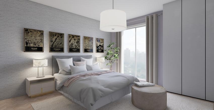 Simply appartment Interior Design Render
