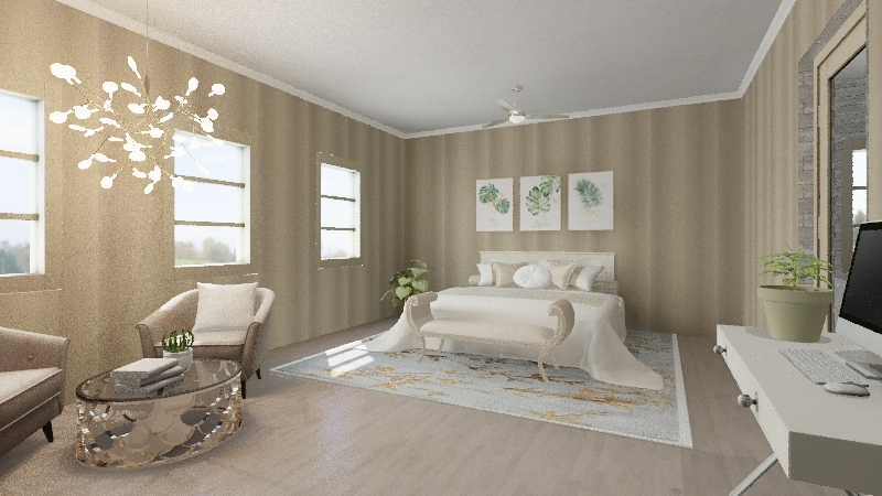 Country Home Interior Design Render