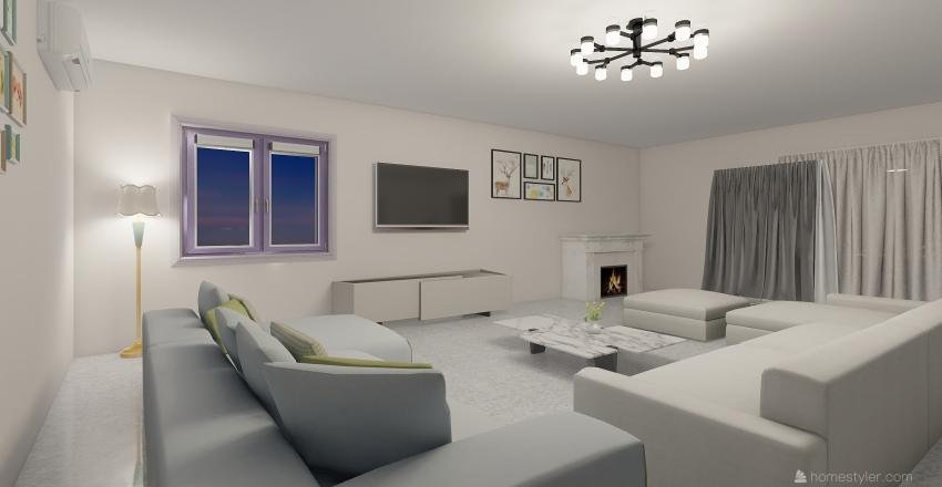 Beautiful Family House Interior Design Render