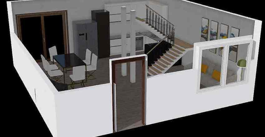 mi house Interior Design Render