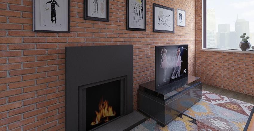muri piccoli  SARA B. BILOCALE con gatto  Interior Design Render