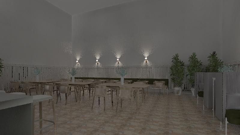 restarant Interior Design Render