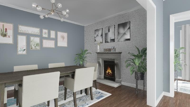 House 1) Interior Design Render