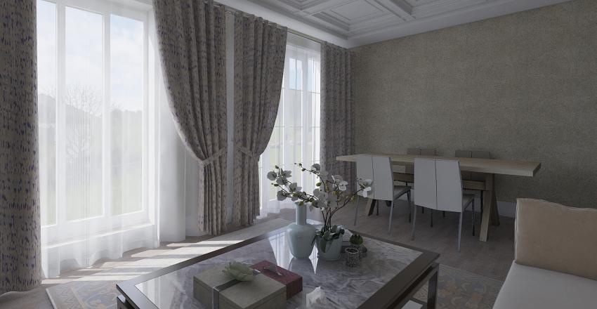 2 kat plan Interior Design Render
