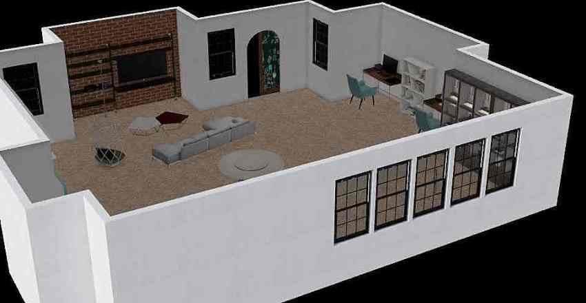 Teen/Young Adult Lounge Interior Design Render