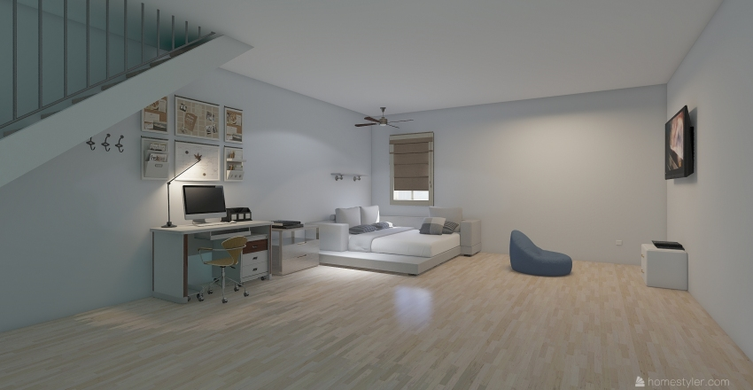 Good night and day Interior Design Render