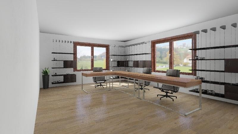 Falak - One room Office Roof Interior Design Render