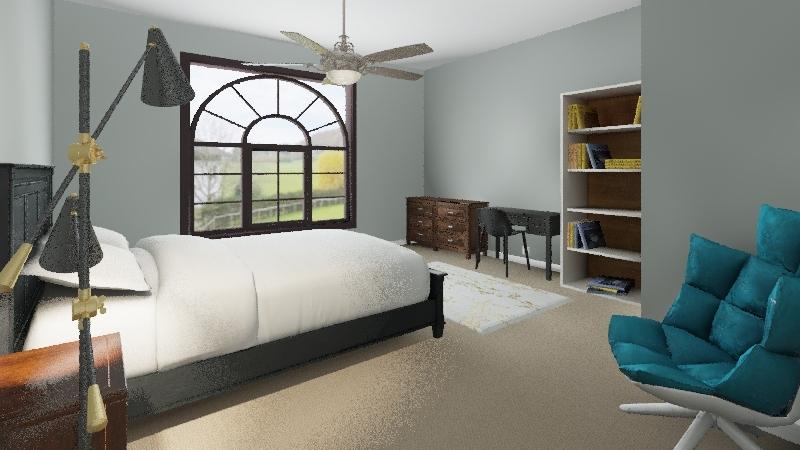 Alexis' Bedroom Interior Design Render