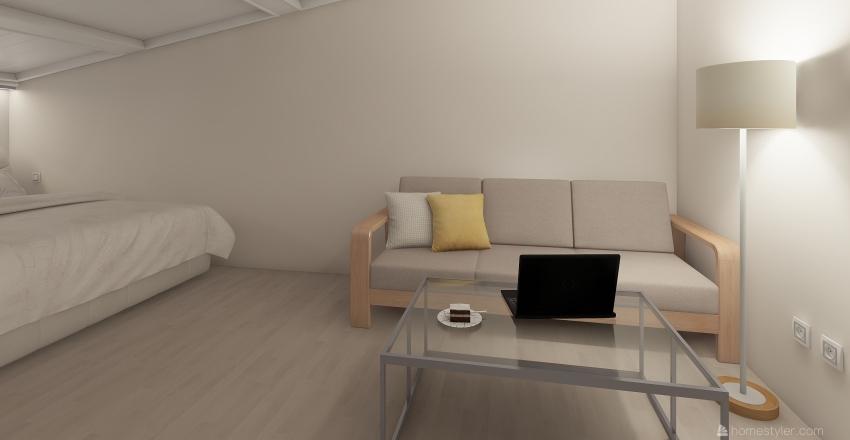 Гламурный чердак Interior Design Render