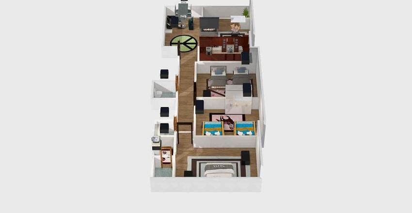 شقةتكتل تجمع1 Interior Design Render