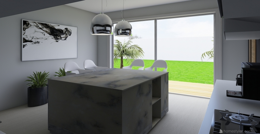 cocina taller Interior Design Render
