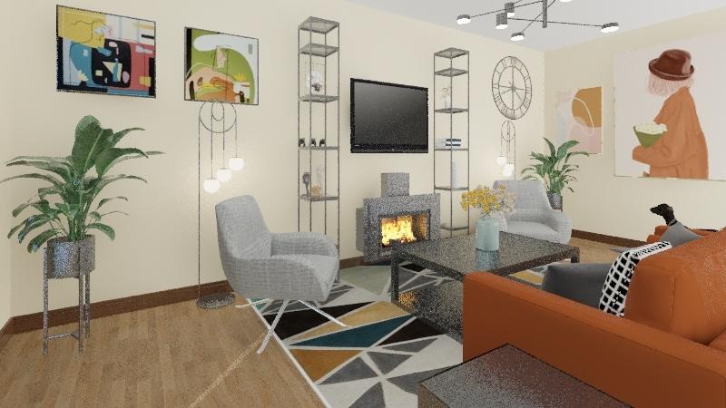living room/dining room Interior Design Render