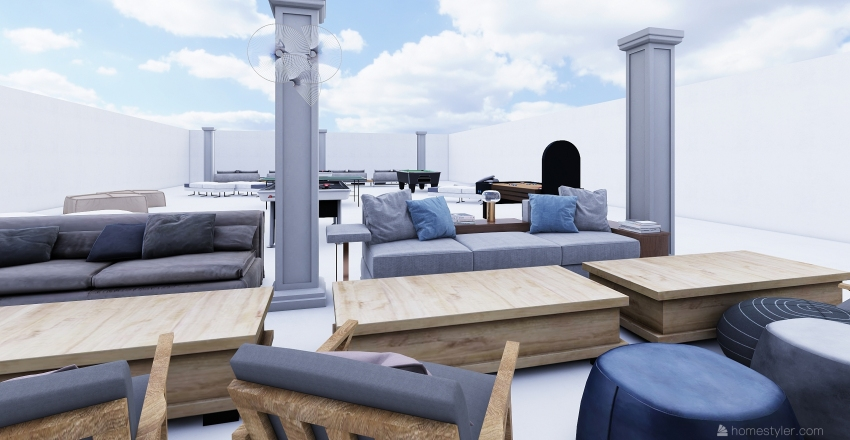 MICRO LOUNGE  Interior Design Render