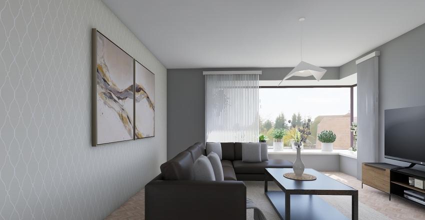 Village modern living Interior Design Render