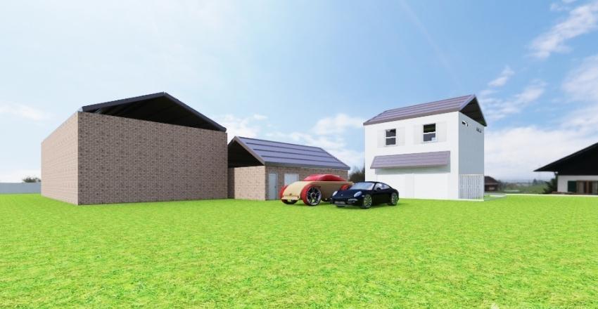 Exterior: Garage Apartment for L1 12' garage Interior Design Render