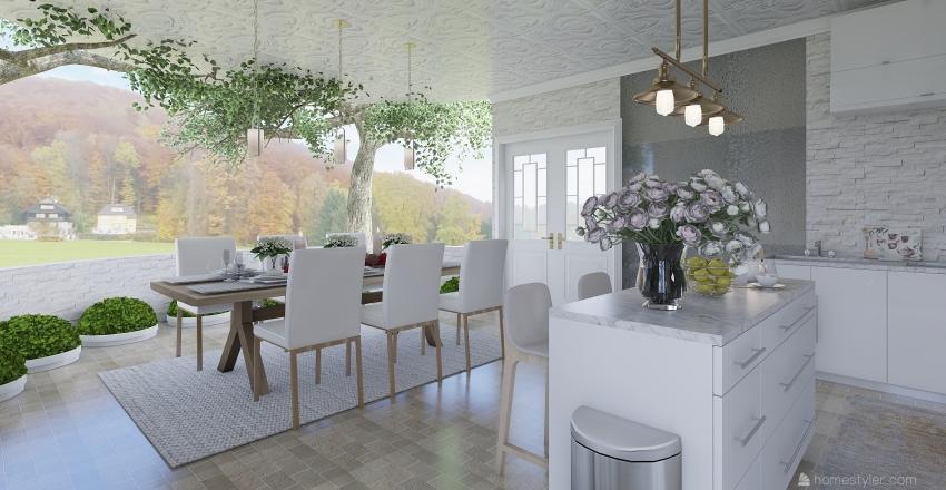 thanksgiving Day Interior Design Render