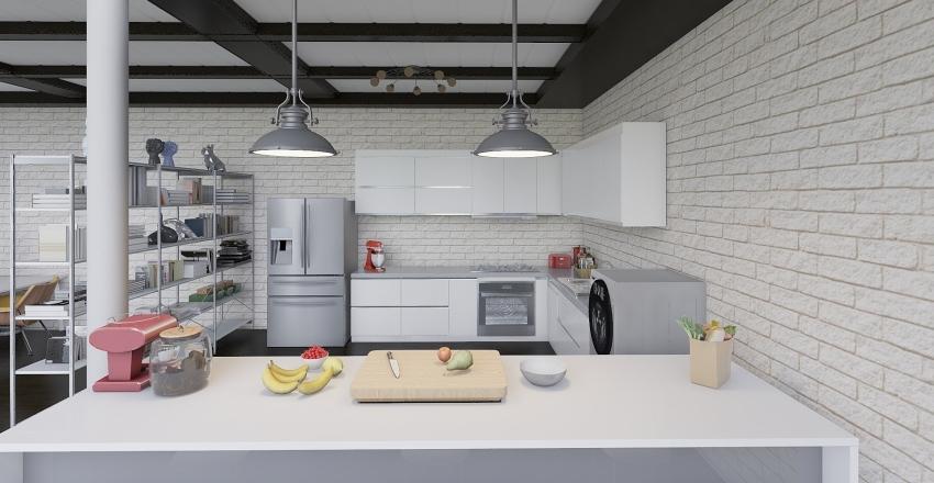 Loft Living_02 Interior Design Render