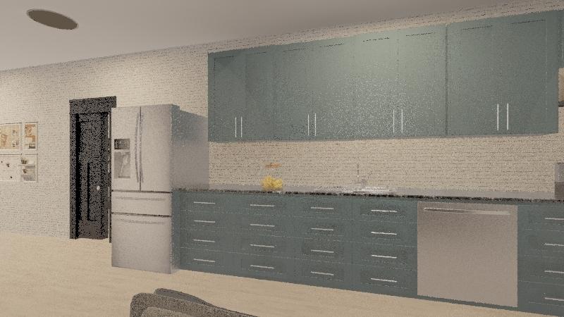 la casa pequeña Interior Design Render