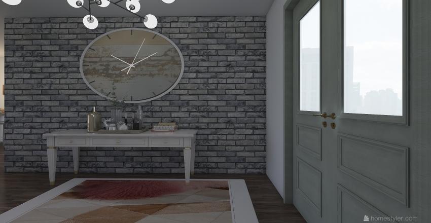 Floor 1 of Townhome Interior Design Render
