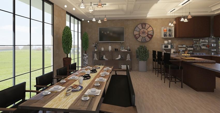 villa contemporanea Interior Design Render