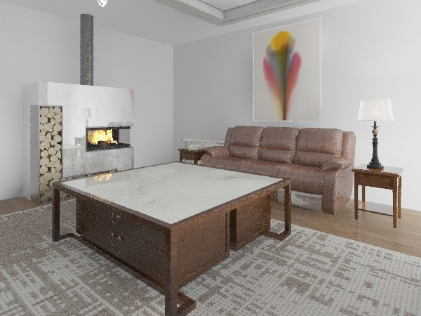 ecohouse Interior Design Render
