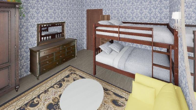 Camera degli ospiti / Guest room Interior Design Render