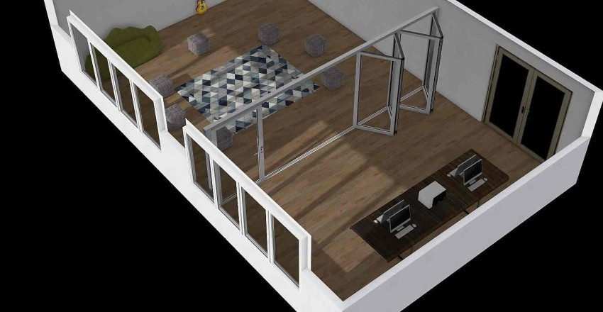 Sala PDU e PDSJ Interior Design Render