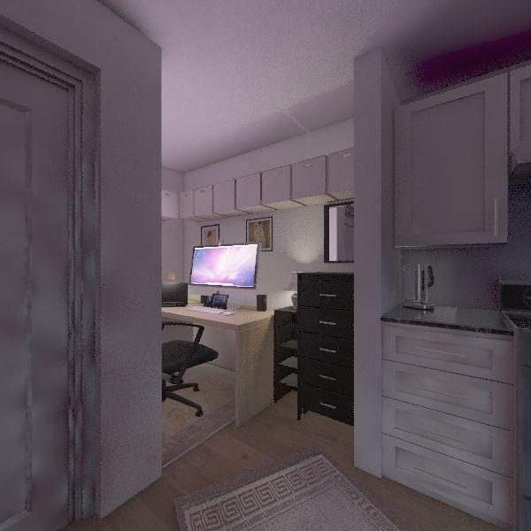 Pinellas Hope - Unit H15 v2 - 260 sf Interior Design Render