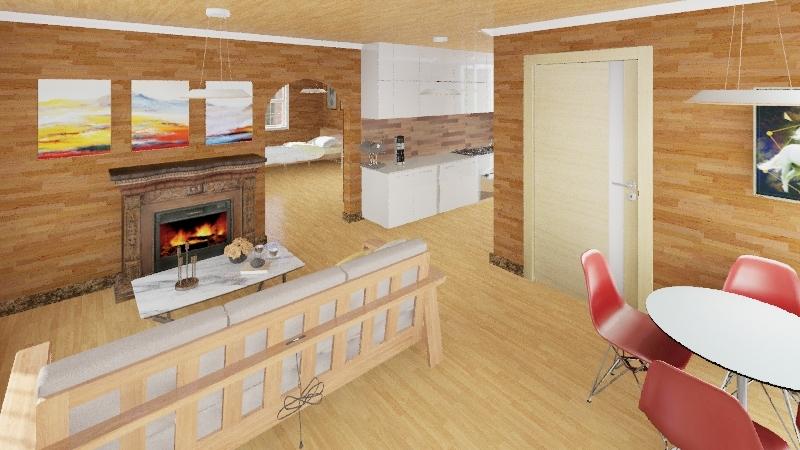casa prefabricada Interior Design Render