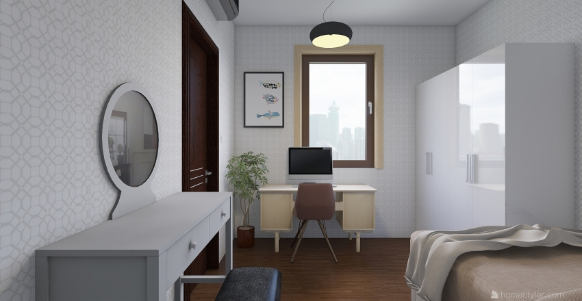 Afnan's Apartment. Interior Design Render