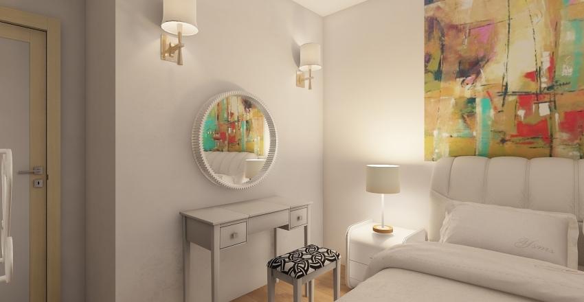 Modern Small Apartment Interior Design Render