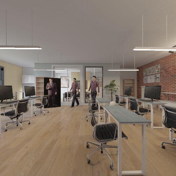happy calendar office Interior Design Render