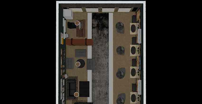 Barberhouse Interior Design Render