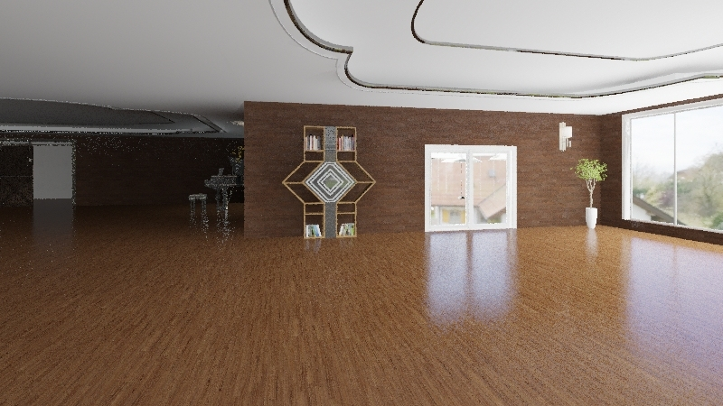 Casa bioclimática Andrés y Martín Interior Design Render