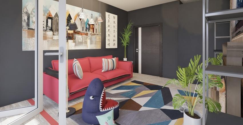 Teenagers room Interior Design Render