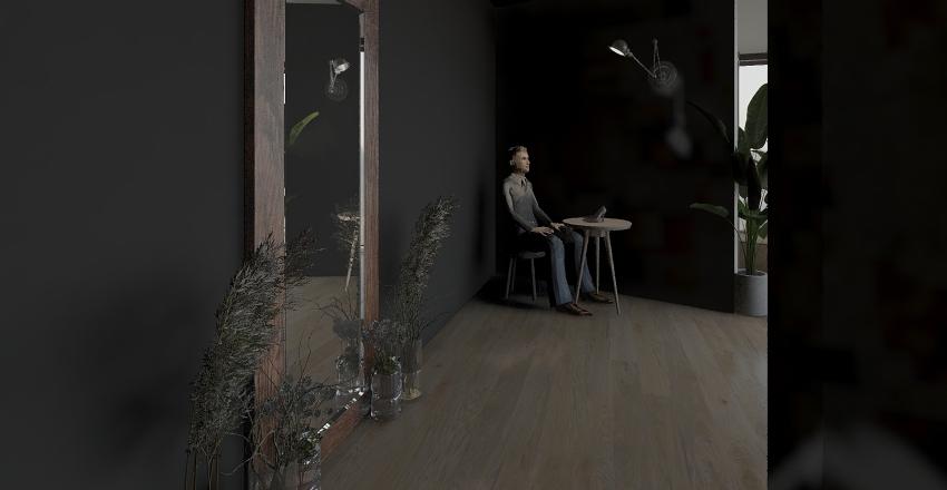 Temporary store Interior Design Render