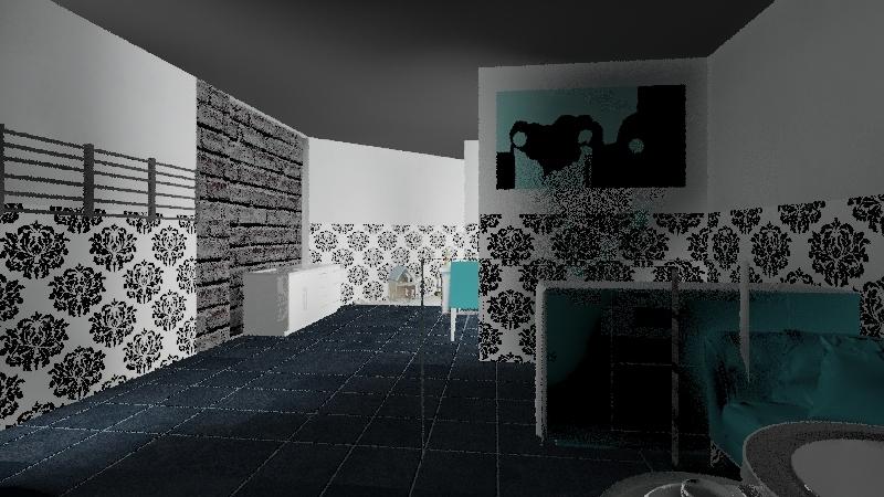 Pr nail bar Interior Design Render
