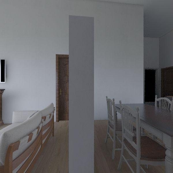 Small Home 3b2b 1121sf Interior Design Render