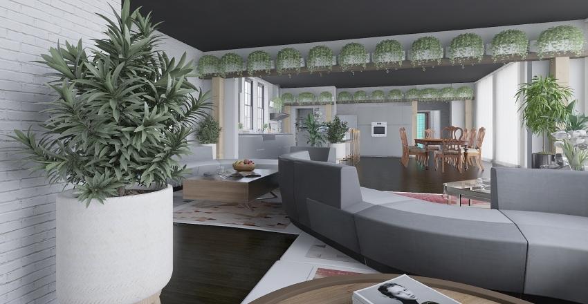 ATTICO MODERNO Interior Design Render