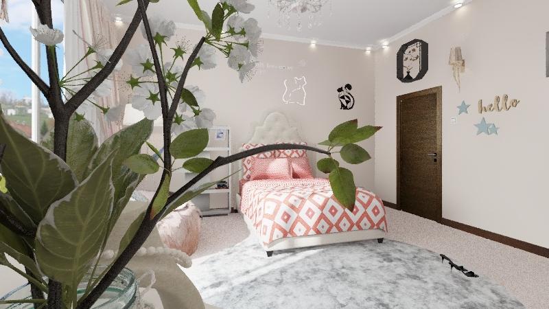 bed Interior Design Render