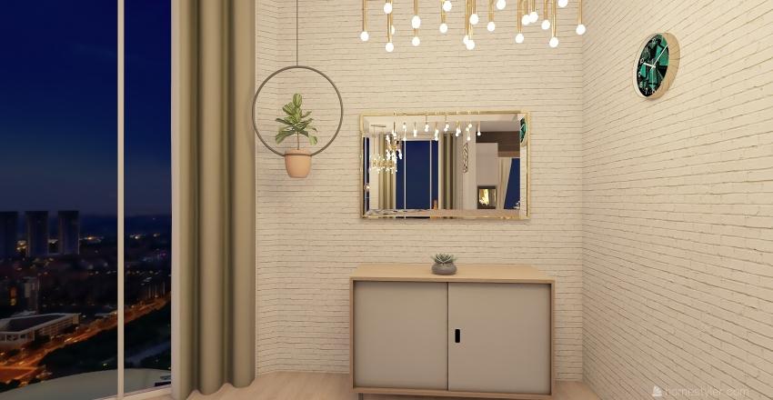 New and modern house Interior Design Render