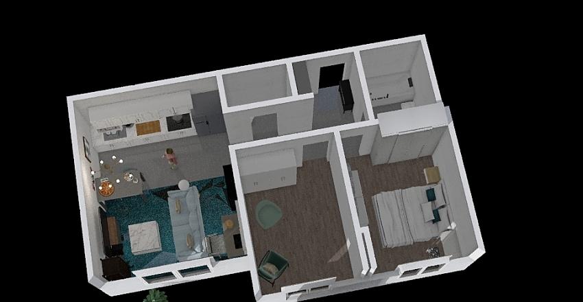 op,53 с рабочим местом  Interior Design Render