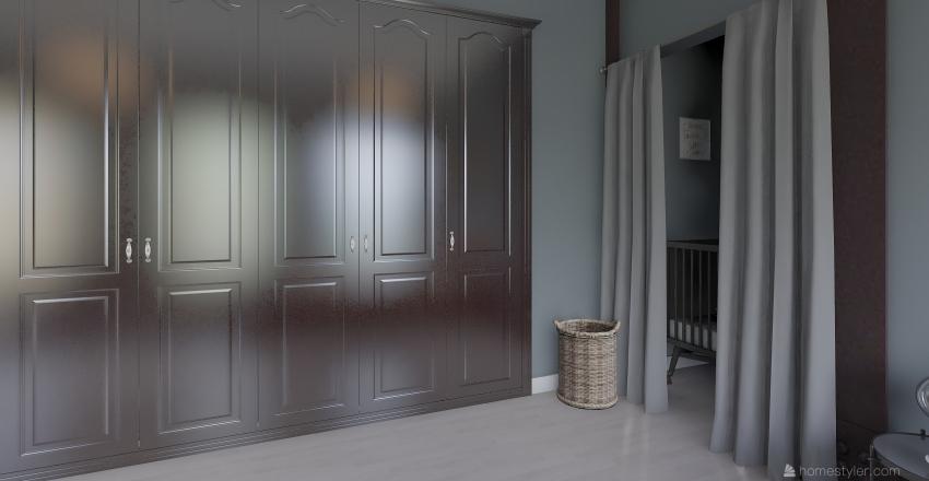 Single Mother Apartment Interior Design Render