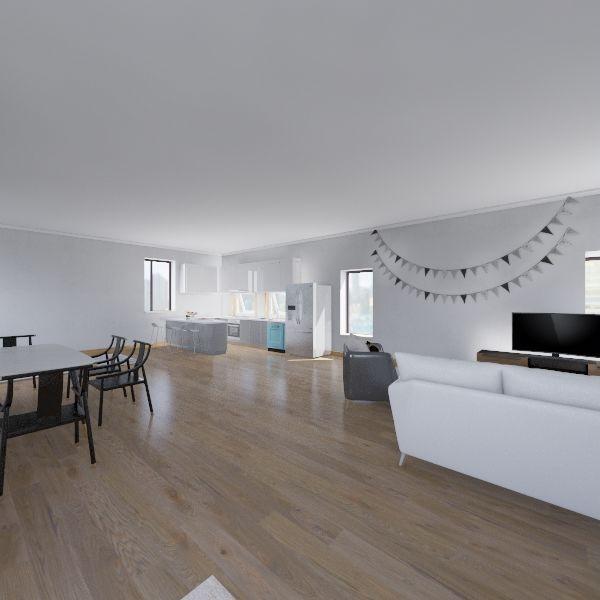 Open Plan Apartment Interior Design Render
