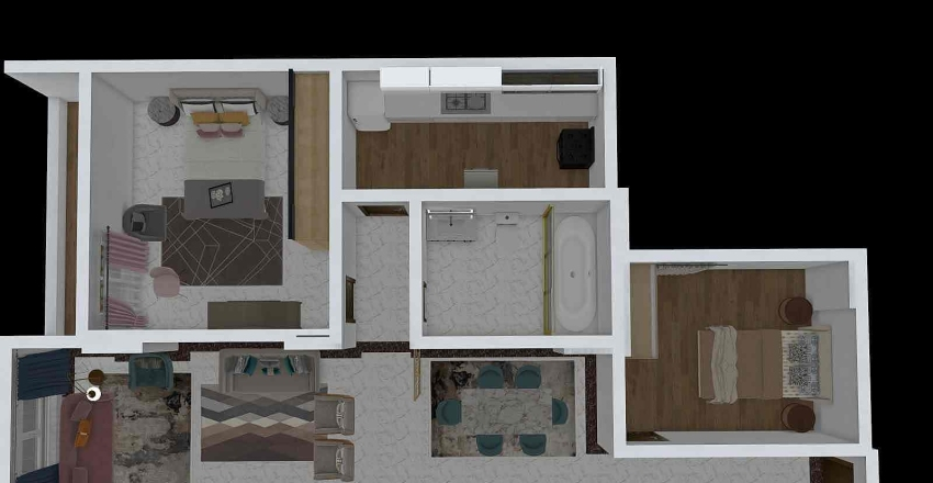 AHMED Hopa Appar. option 2  Interior Design Render