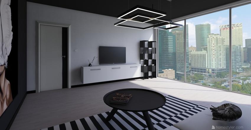 B&W Interior Design Render