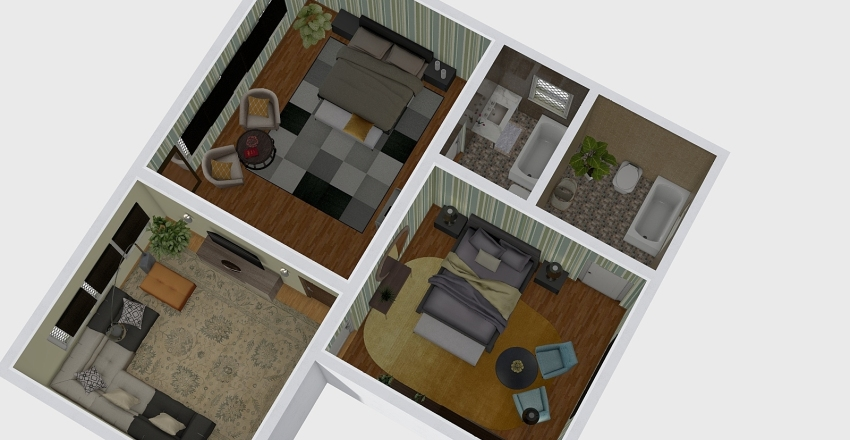 sinisaCool house Interior Design Render