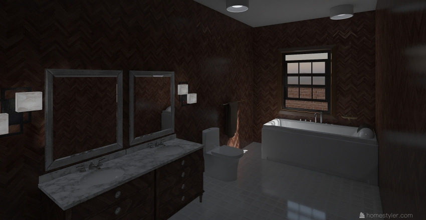 Morning Winter Home  Interior Design Render